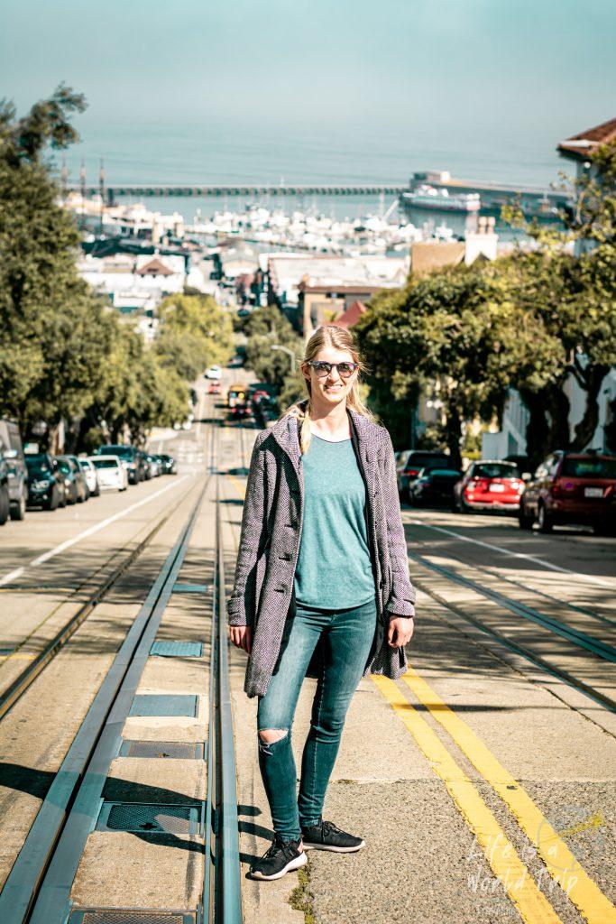 Unterwegs in den Straßen von San Francisco, zwischen den Cable Car Gleisen