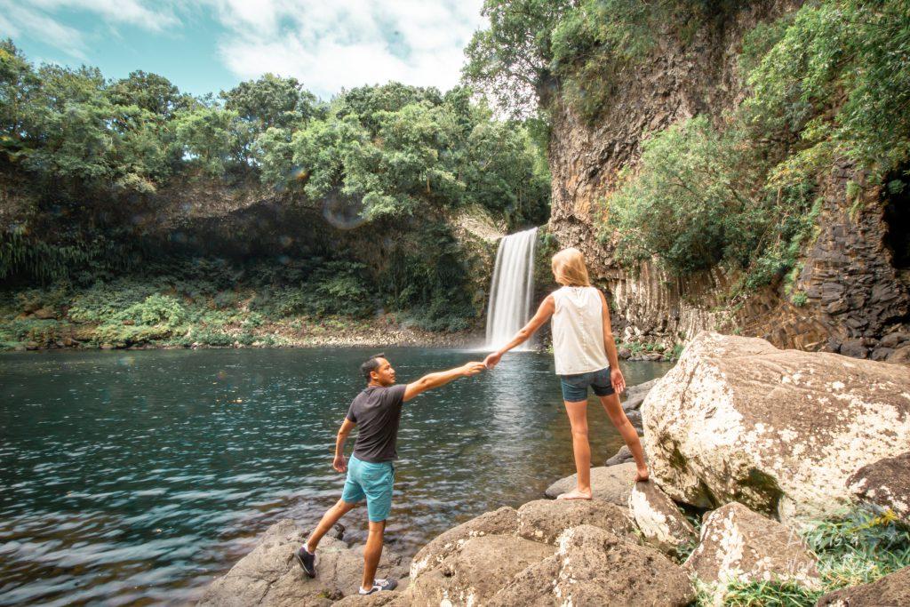 Life is a World Trip - Kombireise nach Mauritius und La Réunion. Wasserfall Bassin La Paix in La Réunion.