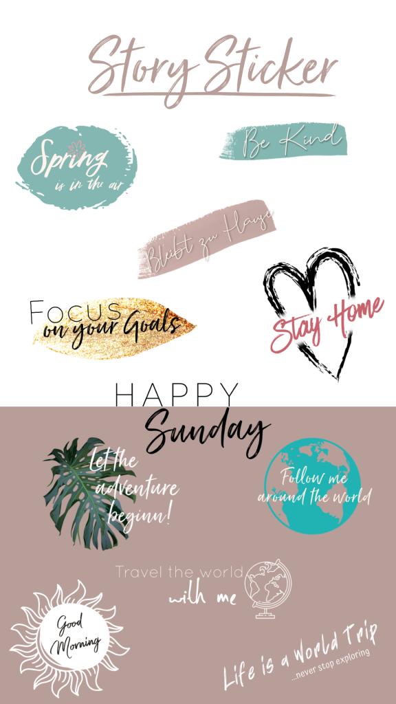 Life is a World Trip - Instagram Story Sticker